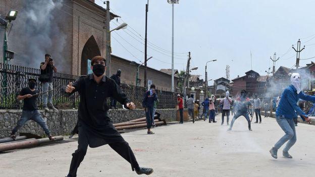 Protests in Kashmir