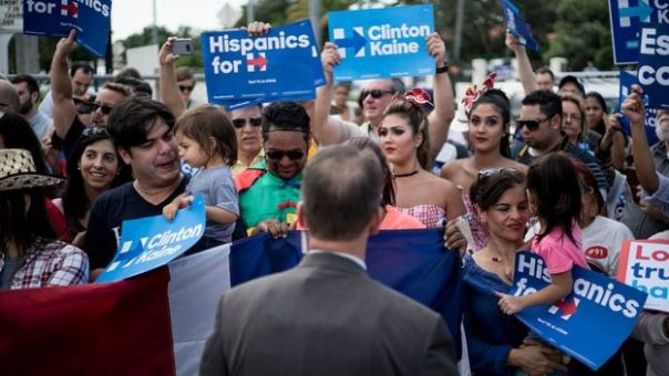 Mitin de Clinton en Florida.