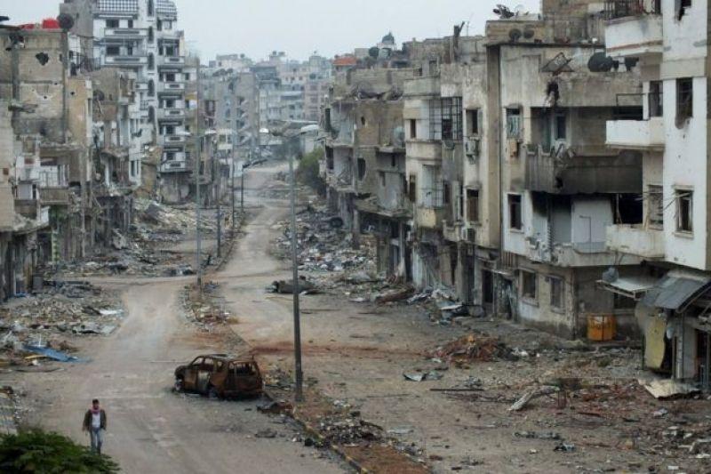 """La ciudad de Homs, llamada """"la capital de la revolución"""""""