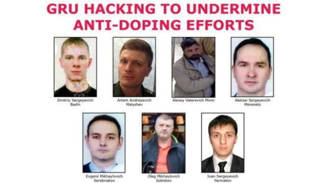 El FBI publicó las fotos de los 7 supuestos agentes rusos que están siendo solicitados.
