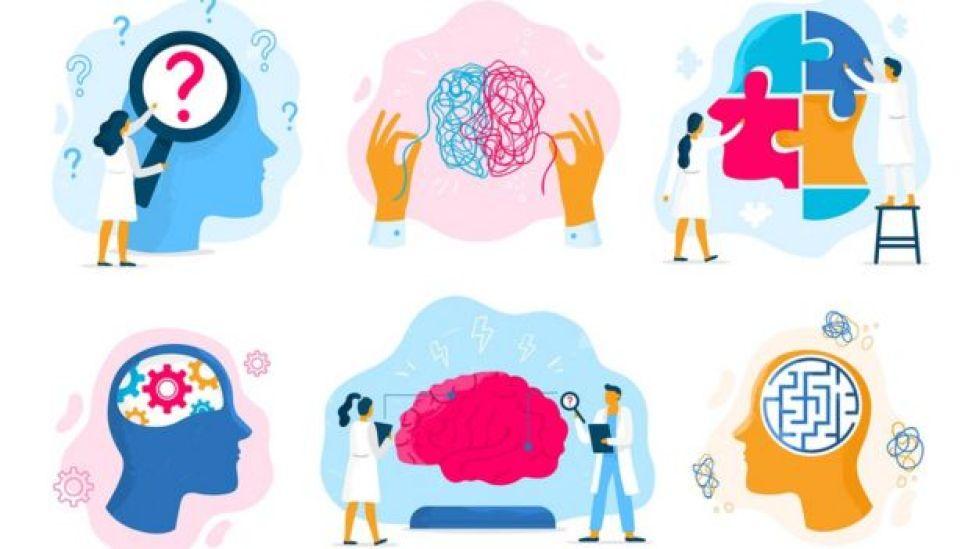 Científicos midiendo cerebro
