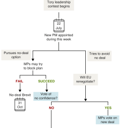 updated flowchart showing how brexit might happen once a new tory leader is chosen  [ 1920 x 3012 Pixel ]