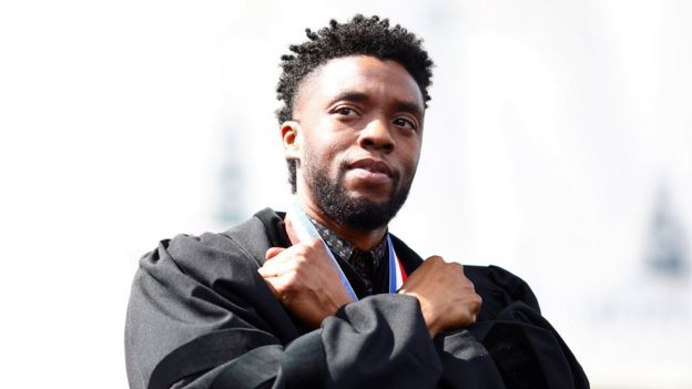 Chadwick Boseman at the commencement address