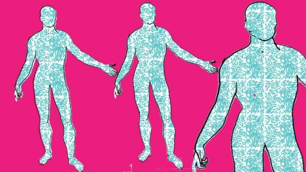 Ilustración de bacterias en el cuerpo