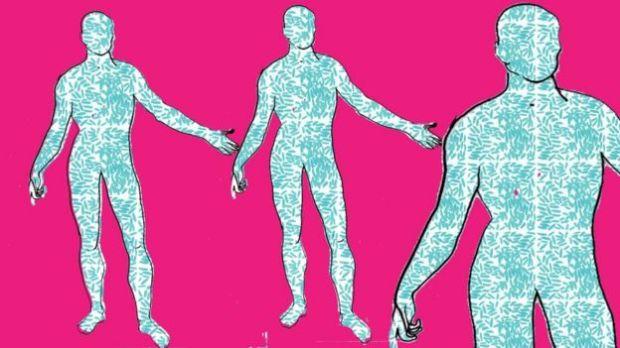 Body bacteria illustration