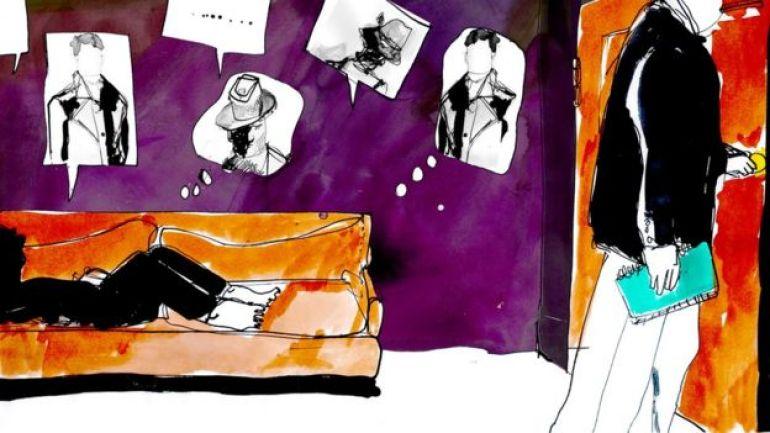 Ilustración de una persona que está en terapia