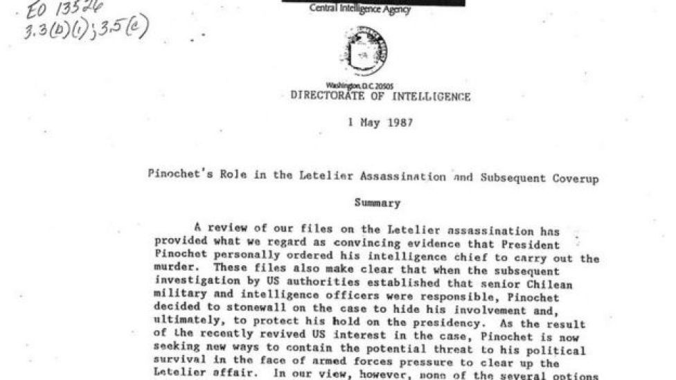 Documento de la CIA