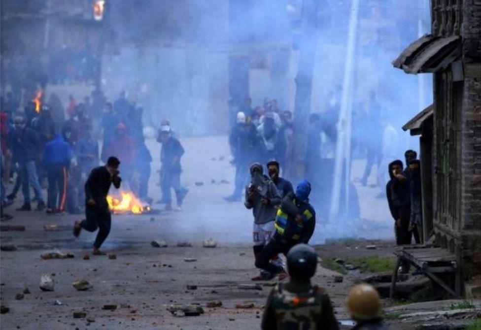 An insurgency in Kashmir