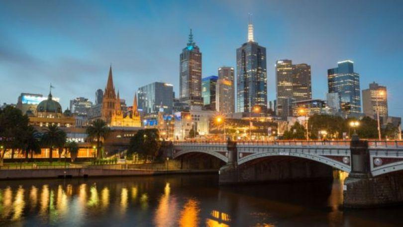 Paisagem de Melbourne, na Austrália