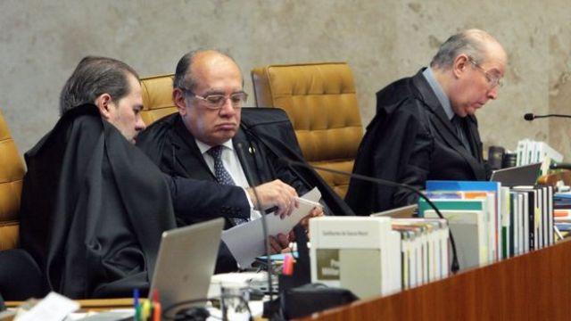 Ministros do STF durante julgamento