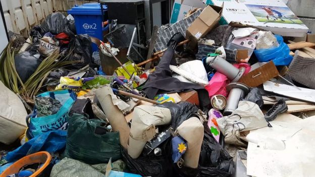 council sofa collection cardiff top rated sofas in canada the bulky charges for waste disposal by welsh councils bbc news a pile of illegally dumped rubbish denbighshire