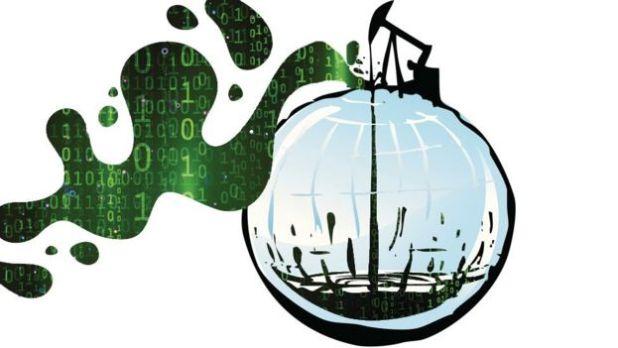 Pozo de petróleo pero del que salen datos