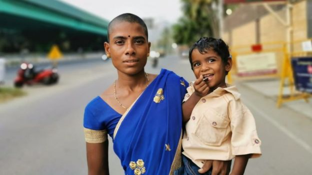 Prema with her son