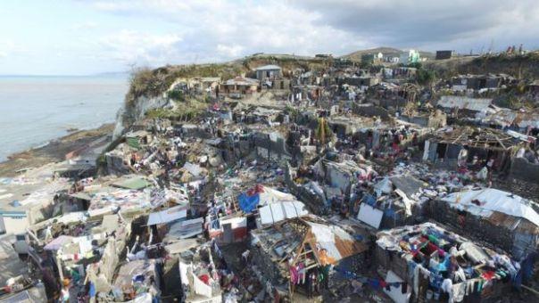 Jeremie, en el occidente de Haití, tras la destrucción por el huracán Matthew