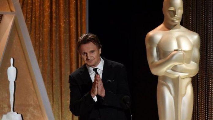 Neeson en una ceremonia de los premios Oscar.