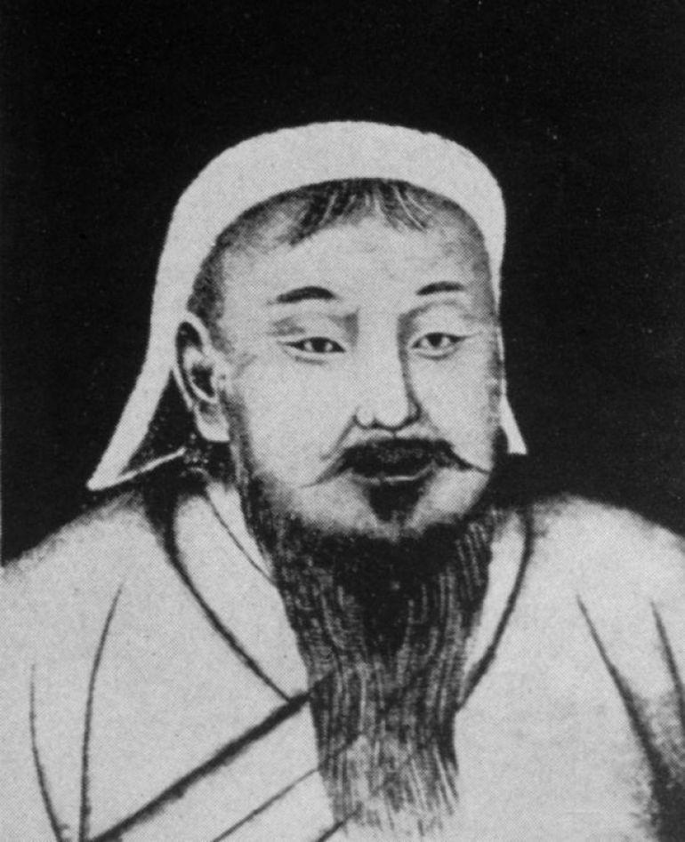 Ilustración de Genghis Khan de alrededor de 1200