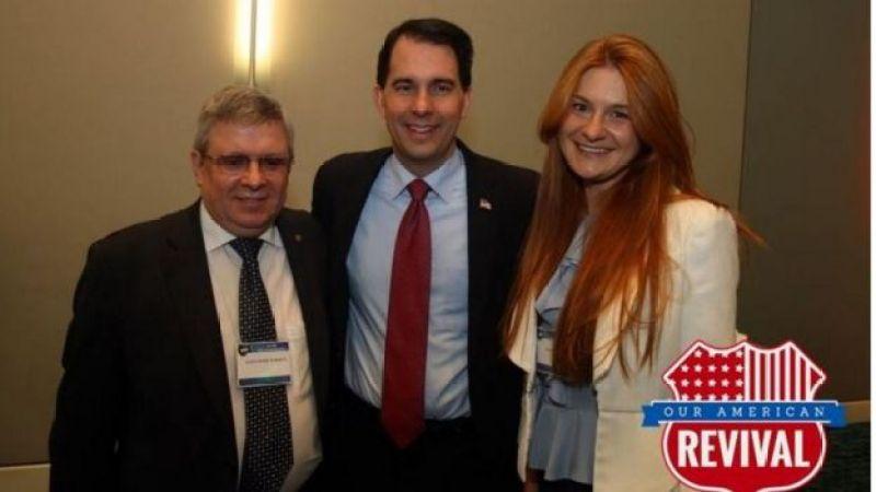خانم بوتینا و آقای تورشین در یک رویداد انجمن اسلحه آمریکا با اسکات واکر فرماندار ویسکانسین دیدار کردند