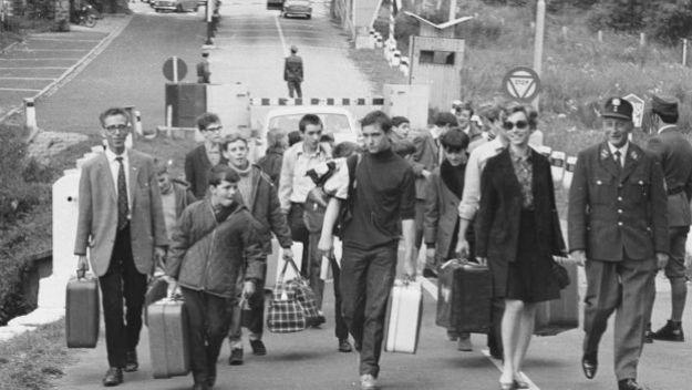 На границе ЧССР и ФРГ в 1968 году