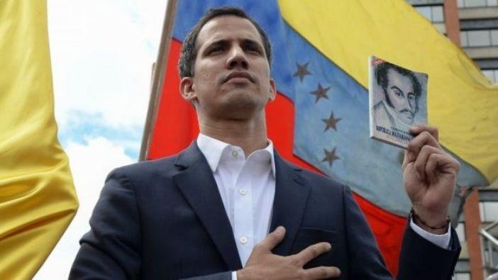 Juan Guaido, en su juramentación.