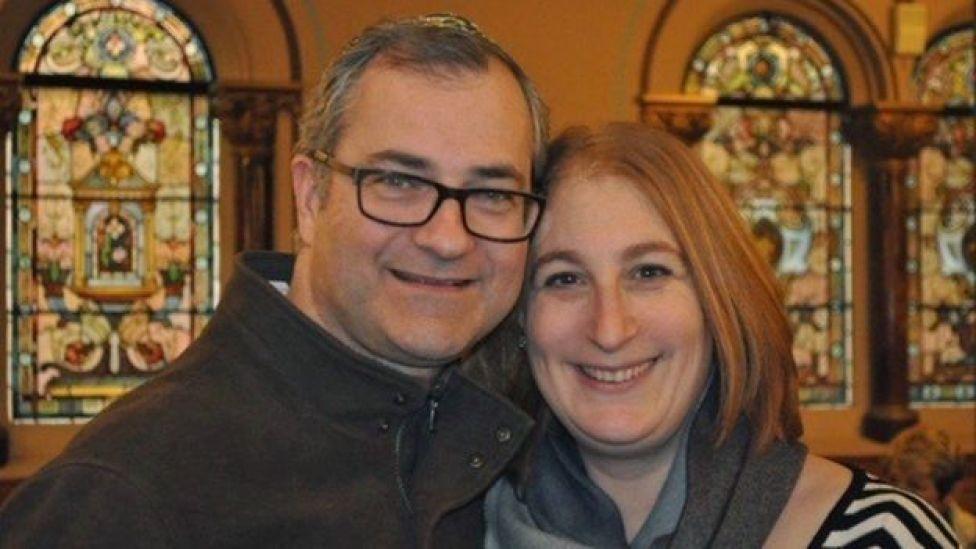 Andrew and Karen Gilbert, smiling