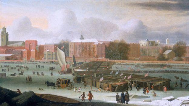 Ilustración de Londres de cerca de 1684.