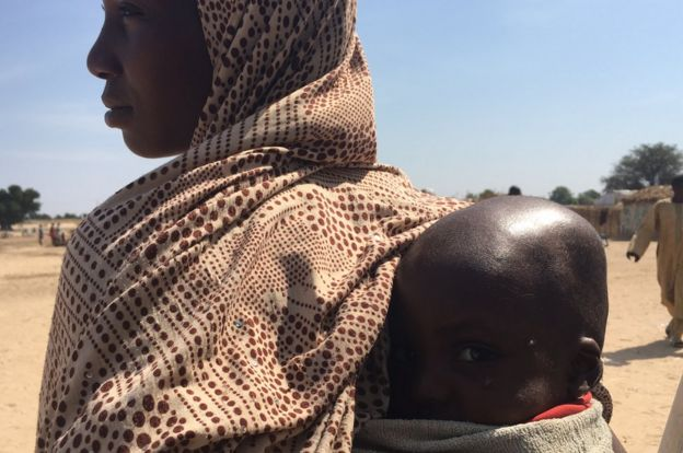 Kawu Ashe and her two-and-a-half-year -ld son Abdullahi in northern Nigeria