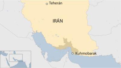 Mapa de Irán.