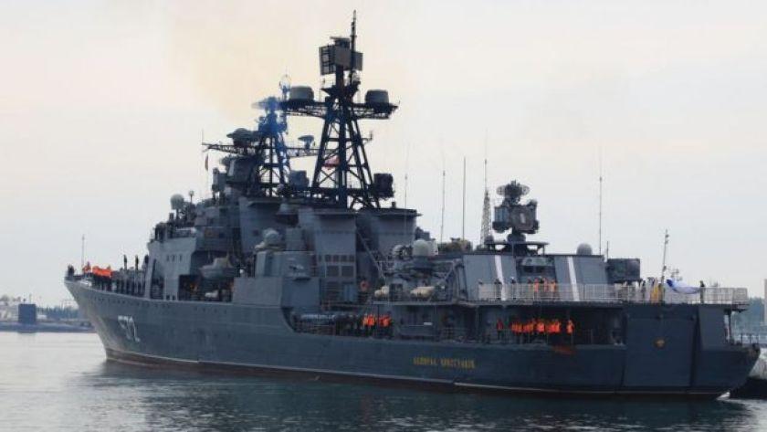 The Russian destroyer Admiral Vinogradov