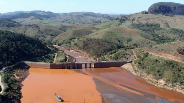 Reservatório de Candonga , em Mariana (MG)