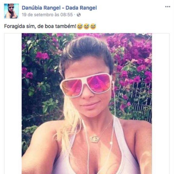 Postagem de conta atribuída a Danúbia no Facebook