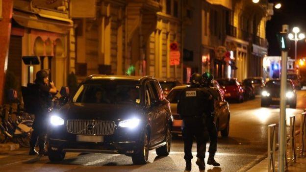 Police inspect cars in Nice