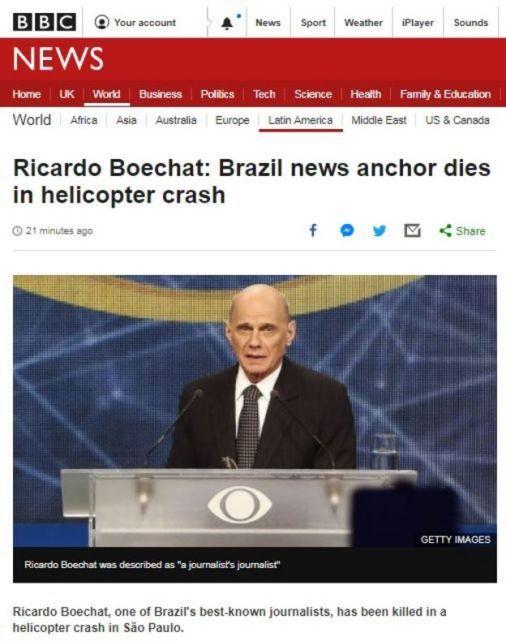 Ricardo Boechat: o que se sabe sobre acidente de helicóptero que matou jornalista em SP