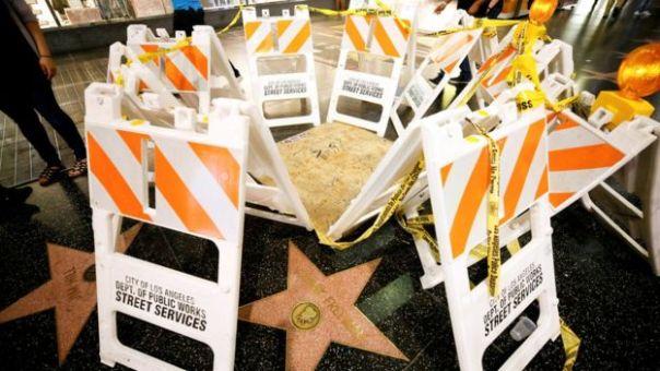 Estrella de Trump en el Paseo de la Fama de Hollywood