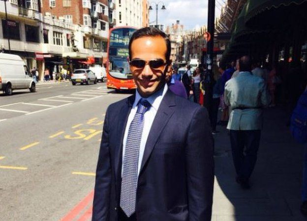 George Papadopoulos is seen on the street in this undated photo.
