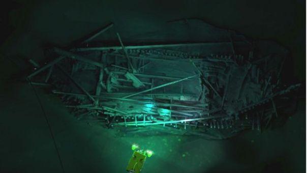 Modelo fotogramétrico del naufragio otomano descubierto en 300m de agua