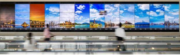 Instalación en el aeropuerto de Haneda, en Tokio.