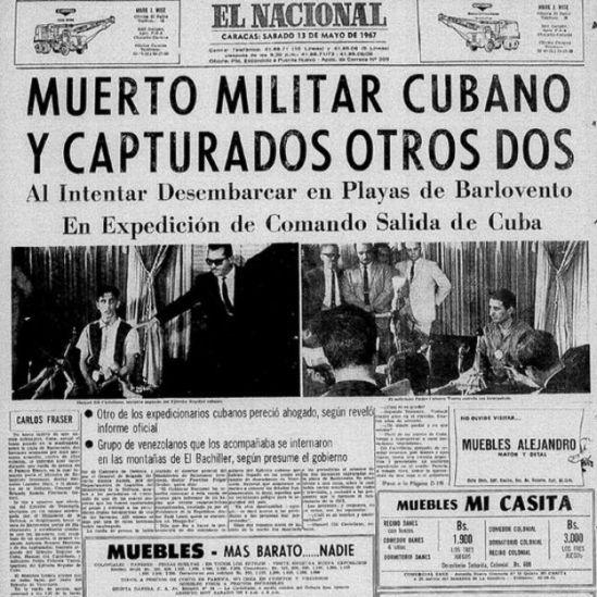 Titular de El Nacional del 13 de mayo de 1967