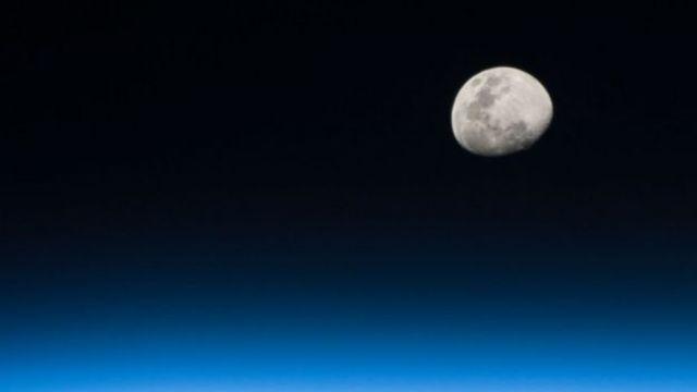 Lua vista da Estação Internacional Espacial. Foto: Randy Bresnik/ Cedida pela NASA