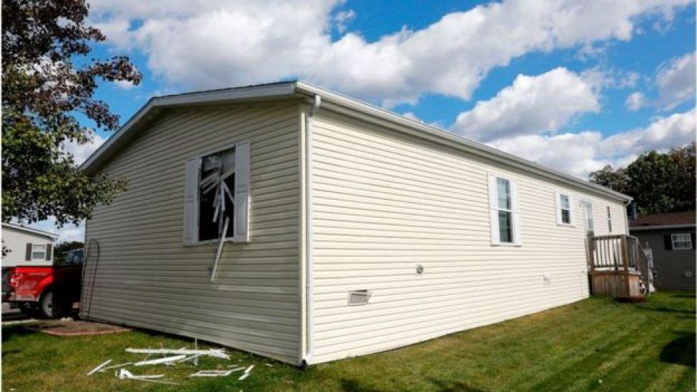 Mr Garbin's trailer home was raided on Wednesday