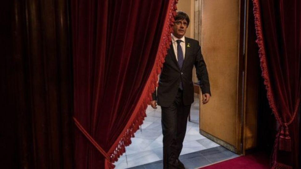 El presidente de la Generalitat catalana, Carles Puigdemont.