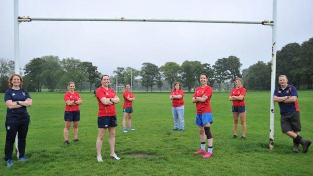 Members of Broughton Rugby Club