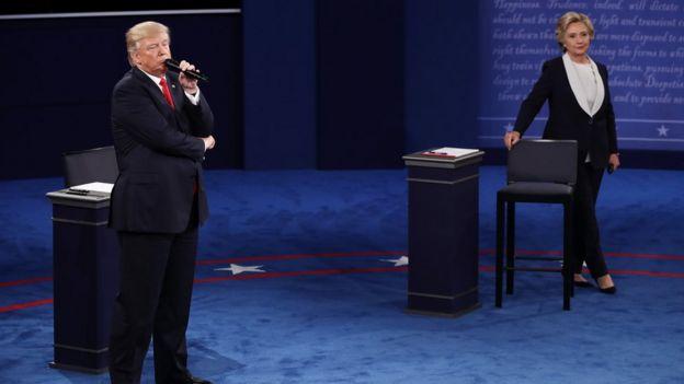 Image result for trump clinton debate 9 october 2016