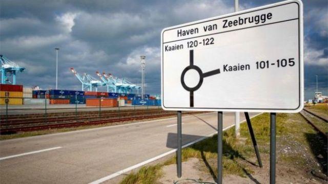 Znak portu Zeebrugge