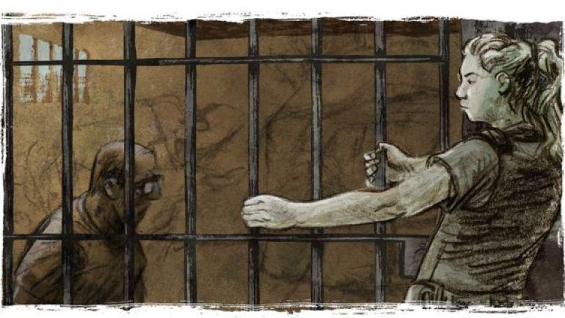 Ilustração representa momento em que policial prendeu seu estuprador