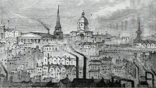A drawing of Birmingham