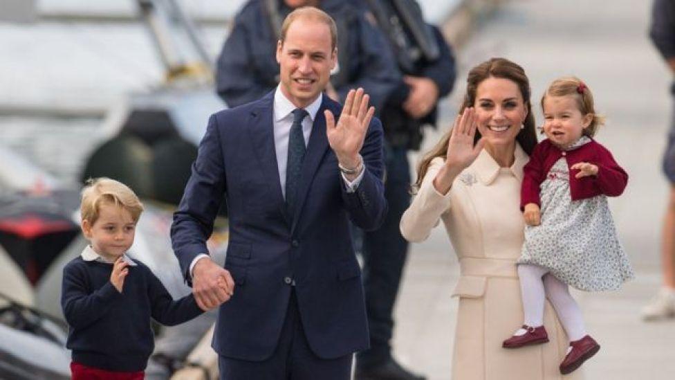 O duque e a duquesa de Cambridge