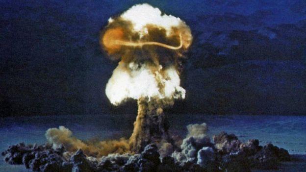 Ядерное испытание на полигоне в Неваде 25 июня 1957 года