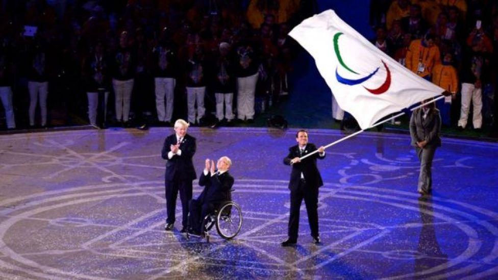 Cerimônia de transferência da Paralimpíada de Londres ao Rio, em 2012
