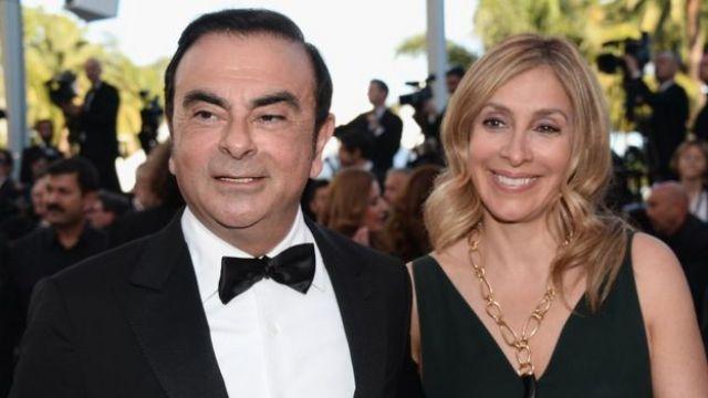 Carlos e Carole Ghosn durante o festival de Cannes em 2016