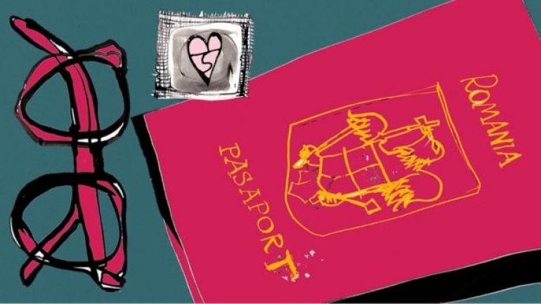 Glasses, condoms, passport